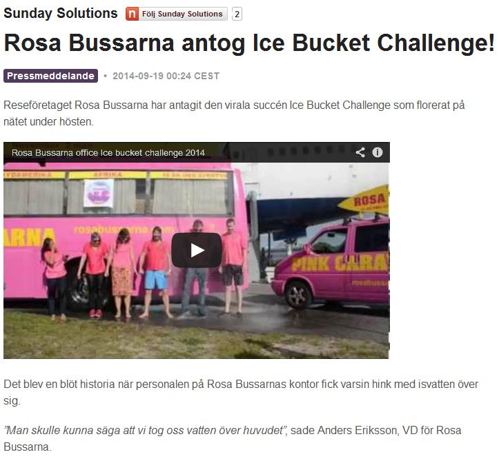 Pressmeddelande Rosa Bussarna