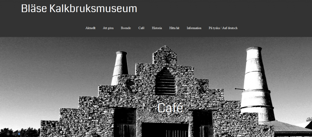 bläse kalkbruksmuseum cafe